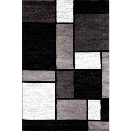 World Rug Gallery Contemporary Modern Boxes Area Rug