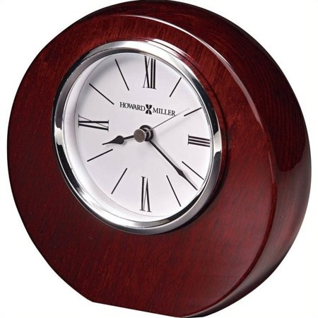 - Bowery Hill Table Desk Clock in Rosewood Hall Finish