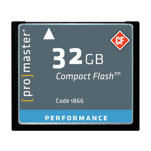 Promaster 32GB CompactFlash Memory Card 500X UDMA (Performance)
