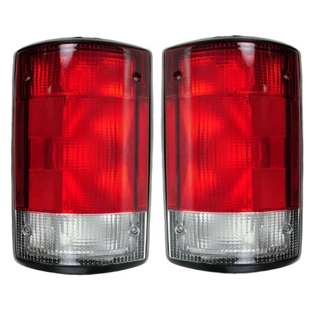 NEW TAIL LIGHT PAIR FITS FORD E-350 ECONOLINE 1995-00 FO2800114 F5UZ 13405 A F5UZ13404A F5UZ-13404-A F5UZ13405A F5UZ-13405-A FO2801114 F5UZ 13404 A 91 Ford E-350 Econoline Tail