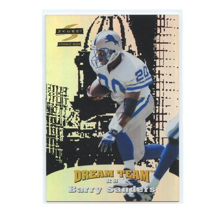 Lions Team Card (1996 Score Dream Team Promo Sample #5 Barry Sanders Lions Cards )