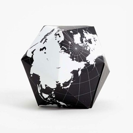 Goose Magnet - Dymaxion Folding Globe Black and White Brain Teaser Magnet Puzzle