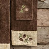 Pine Haven Cabin Hand Towel - Rustic Bath Accessories