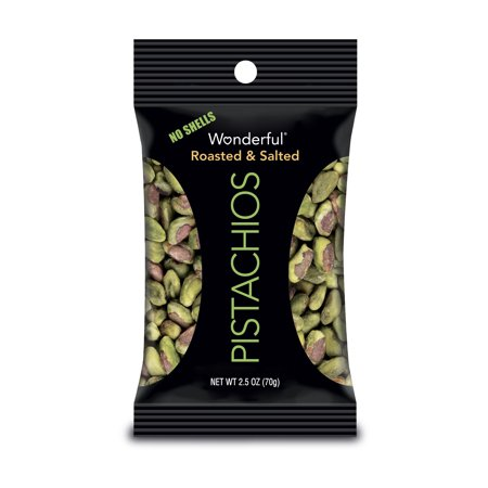 Wonderful, Roasted & Salted Shelled Pistachios Nuts, 2.5 Oz, 8 Ct