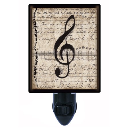 Night Light - Photo Light - Musical Clef Note - Music (Music Note Lights)