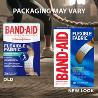 Band-Aid Brand Flexible Fabric Adhesive Bandages, All One Size, 30 ct
