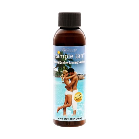 4 oz Belloccio Simple Tan 12% DHA Dark Sunless Airbrush Spray Tanning (Best Airbrush Spray Tan)