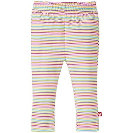 Zutano Baby Girls' Rainbow Candy Stripe Skinny Legging, Multi, 6