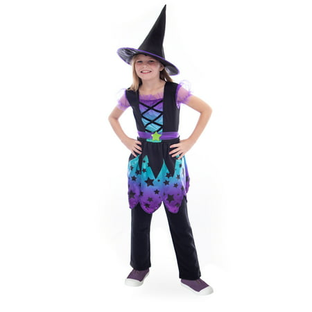 Boo! Inc. Enchanting Witch Children's Halloween Costume | Girl's Fairy Tale Outfit