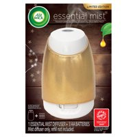 Air Wick Essential Mist, Gold Holiday Essential Oils Diffuser, Starter Kit (Gadget only), Air Freshener, Fall dcor