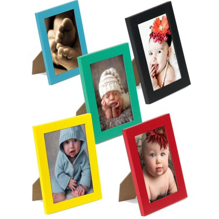 Set Of 10 Vibrant Pine Wood Photo Frames For 4 X 6 Inch Images 5