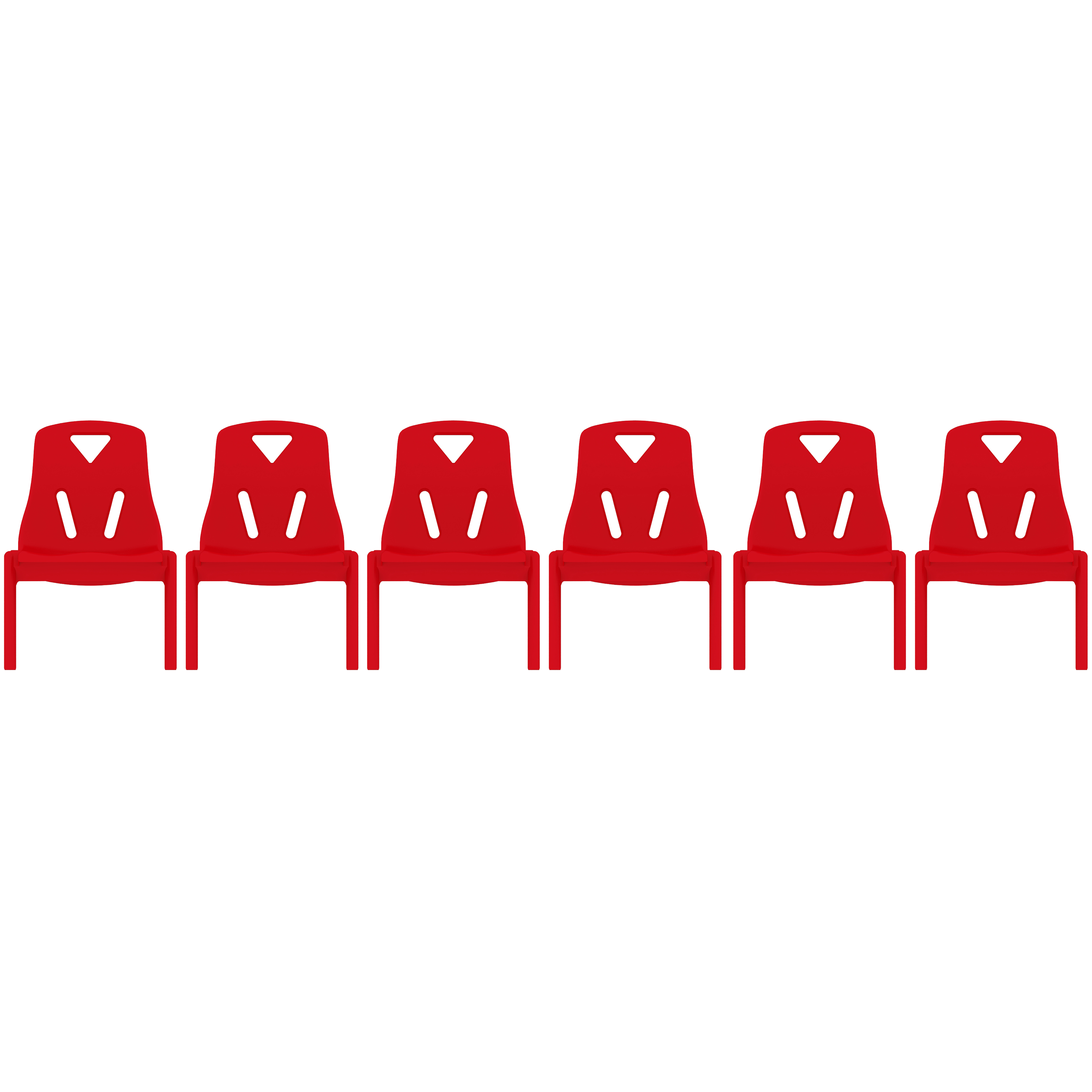 """2xhome - Set of Six (6) - Red - Kids Size Plastic Side Chair 10"""" Seat Height Red Childs Chair Childrens Room Chairs No Arm Arms Armless Molded Plastic Seat Stackable"""