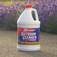 30 SECONDS Outdoor Cleaner For Stains From Algae, Mold and Mildew 1 Gallon Concentrate