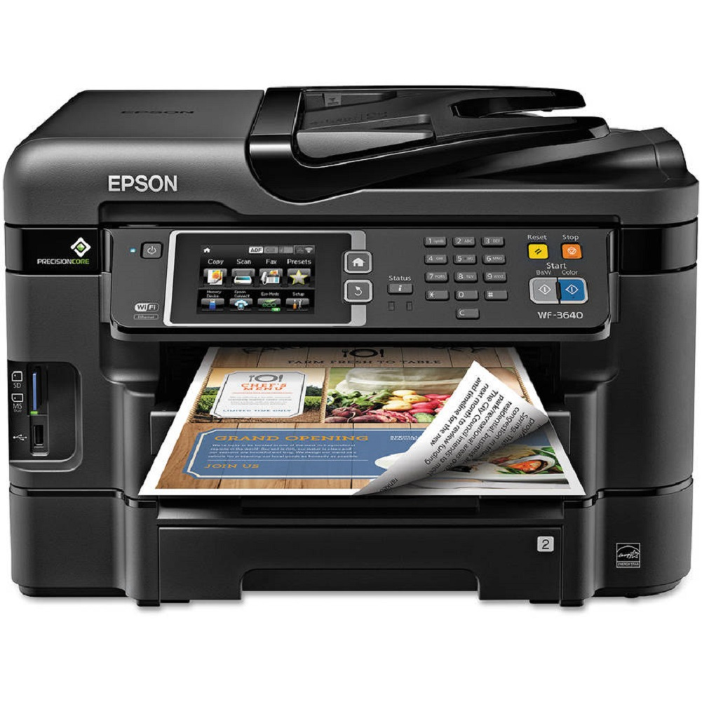 Epson WorkForce WF-3640 All-in-One Printer Copier Scanner Fax Machine by Epson