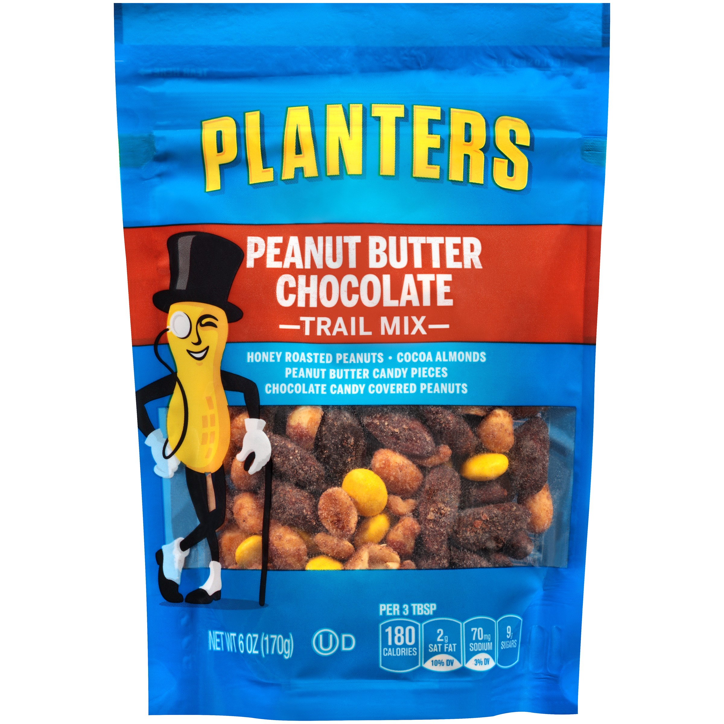 Planters Trail Mix Peanut Butter Chocolate, 6 Oz