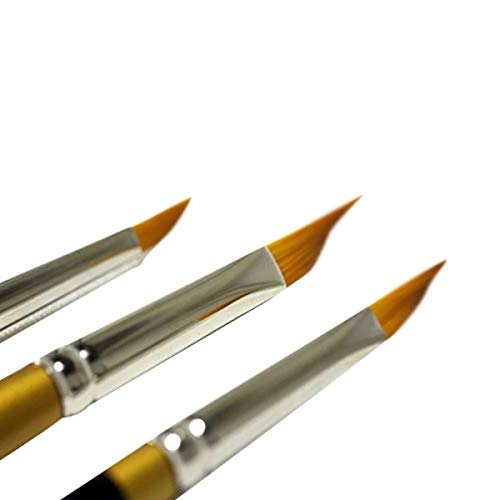 KINGART Original 9900 Series Size 10 Golden Taklon Tri-Wedge Black//Gold