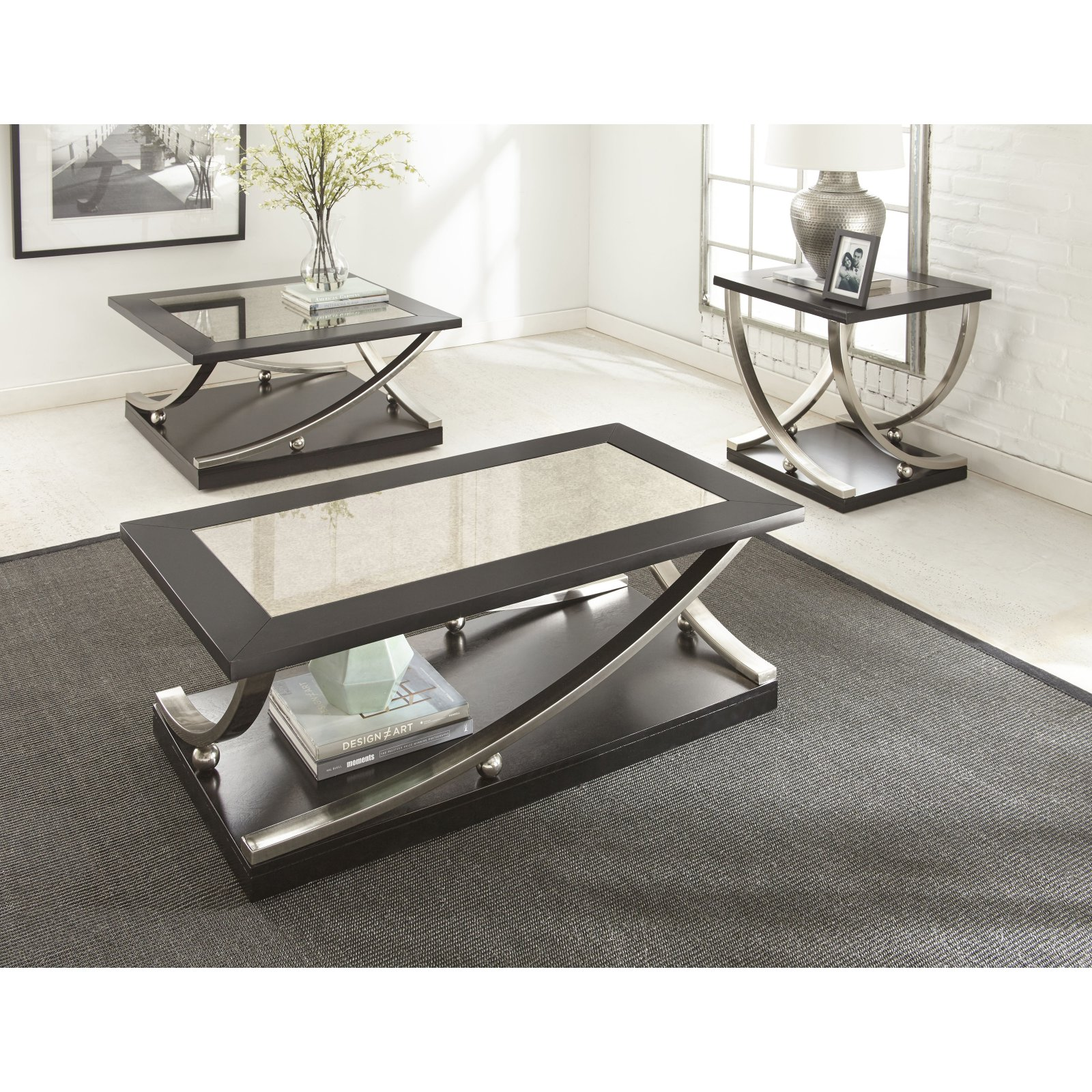 Steve Silver Ramsey Cocktail Table with Casters by Steve Silver