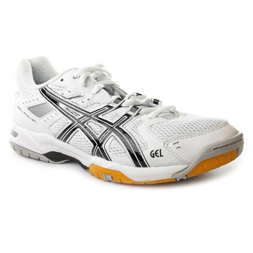 asics gel rocket 6 mens size 6 white textile tennis shoes