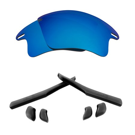 Lenses Kit Compatible with OAKLEY FAST JACKET XL Polarized Blue & (Fast Jacket Xl Lenses)