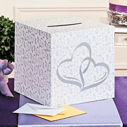 Two Hearts Wedding Card Box