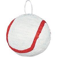 Baseball Pinata, White & Red, 10in