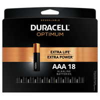 Duracell Optimum AAA Batteries, Resealable Package of Triple A Batteries, 18 Pack