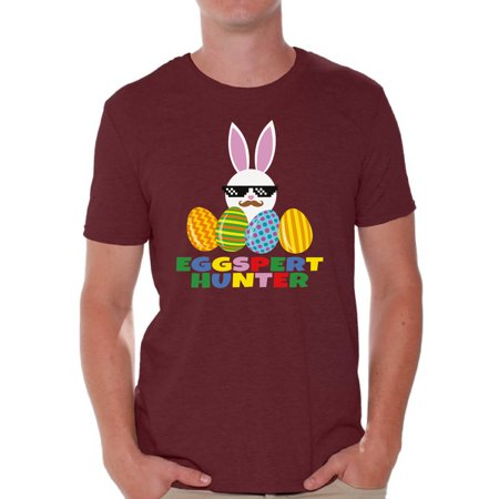 Awkward Styles Eggspert Hunter Tshirt Easter T Shirt Men Easter Gifts for Him Easter Egg Hunt Outfit Easter Holiday Shirts Funny Easter Bunny Shirt Easter Hunt T Shirt for Men Happy Easter Tshirt Happy Bunny T-shirt Top