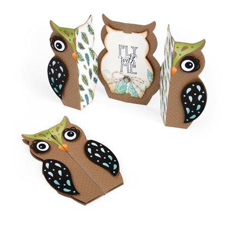 Sizzix Thinlits Dies   Card  Owl Label Fold A Long By Jen Long