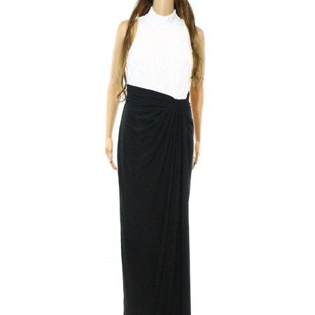 Lauren Ralph Lauren New Black White Womens Size 4 Sequin Ball Gown