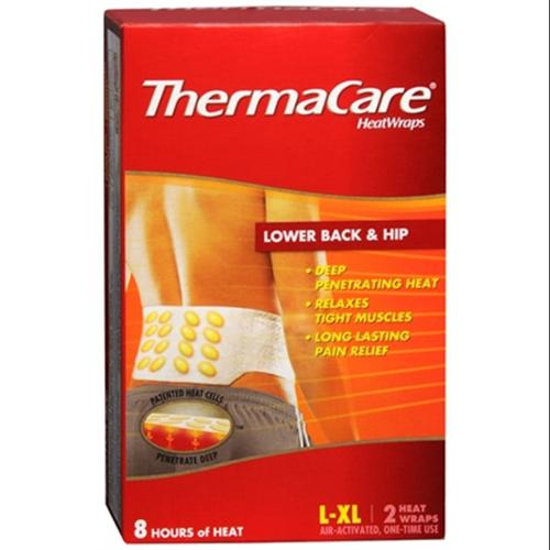 ThermaCare Heatwraps Large-XL Lower Back & Hip 2 ea (Pack of 6)