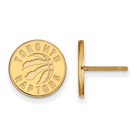 Toronto Raptors Small (1/2 Inch) Post Earrings (Gold Plated)