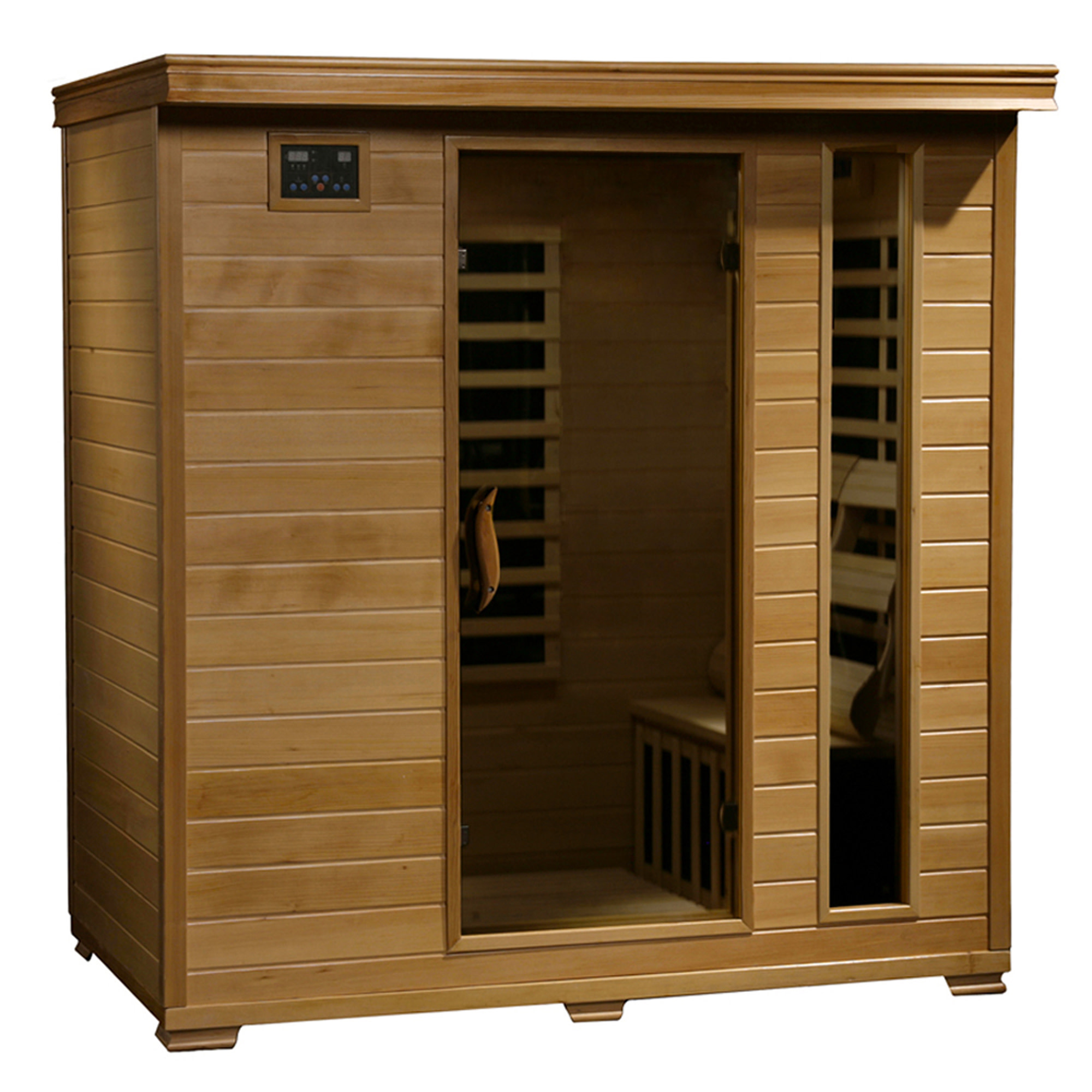 Radiant Saunas Radiant Saunas Infrared Hemlock Sauna for 4 People with 9 Low-EMF Carbon Heaters, Chromotherapy and Audio System
