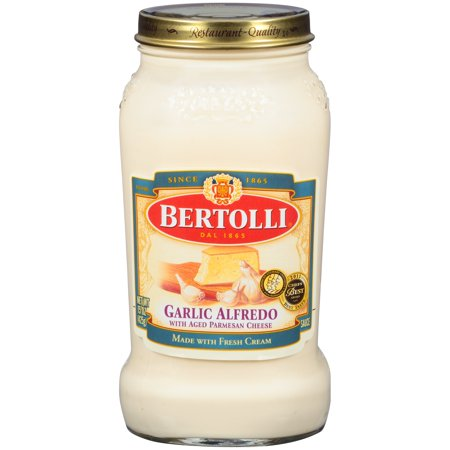 (2 pack) Bertolli Garlic Alfredo with Aged Parmesan Cheese Pasta Sauce 15 oz.