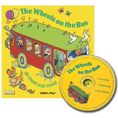 The Wheels on the Bus Go Round and Round (Classic Books with Holes UK Soft Cover with CD) (Paperback)