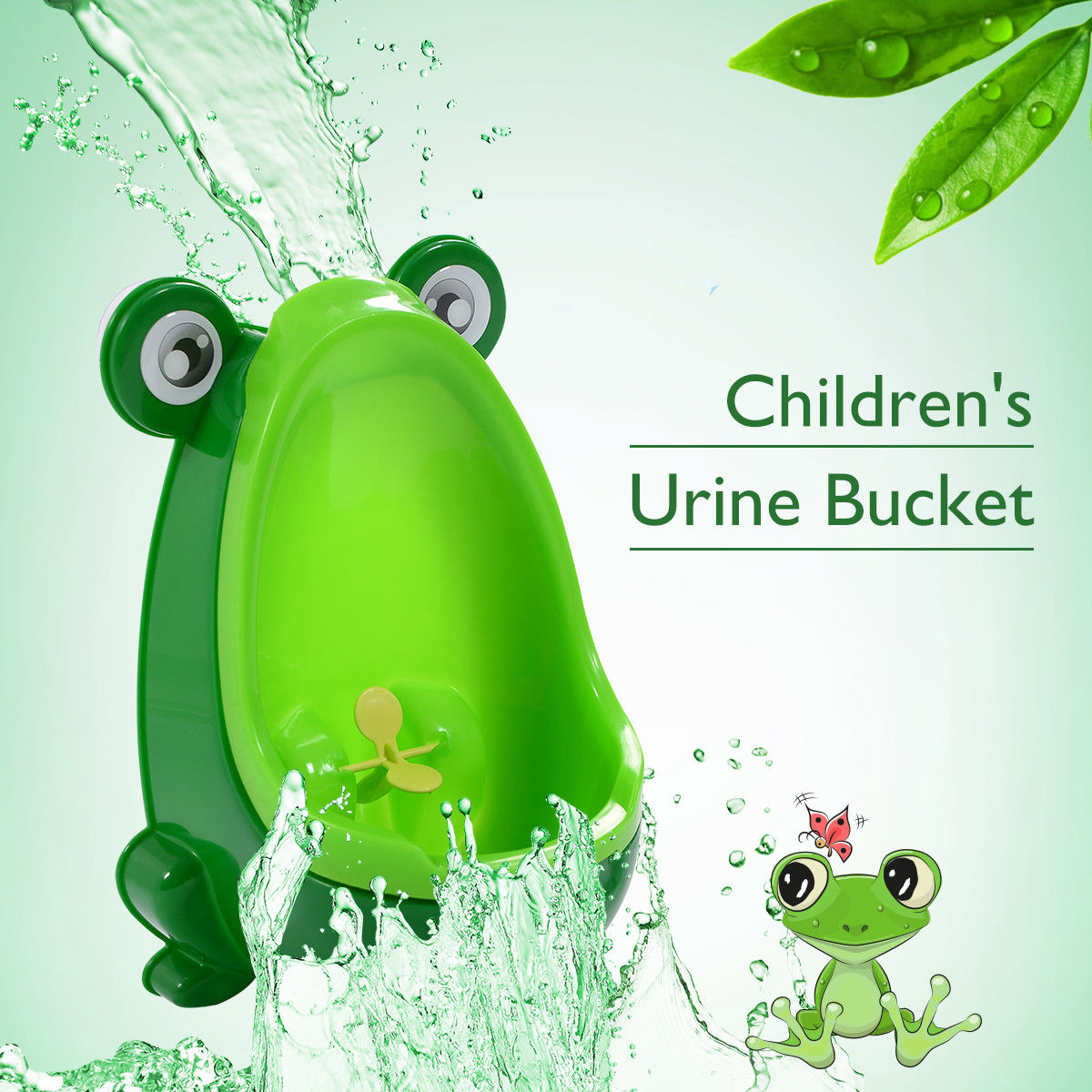 Costway New Cute Frog Potty Training Urinal for Boys with Funny Aiming Target (green)