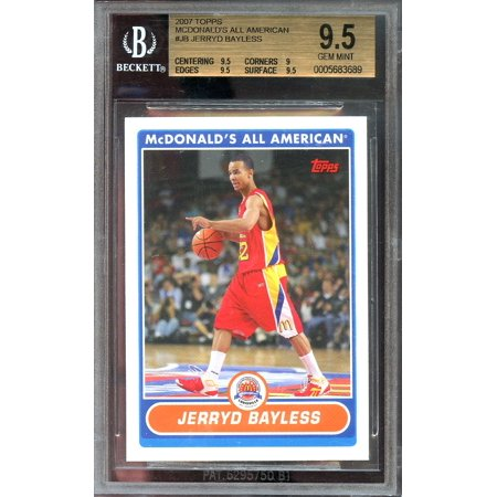 2007 Topps Mcdonalds All American  Jb Jerryd Bayless Bucks Rookie Card Bgs 9 5