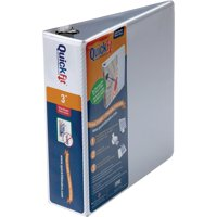 QuickFit, STW87050, D-Ring View Binders, 1 Each, White