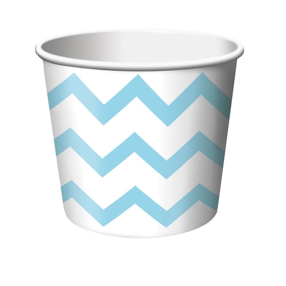 Chevron Stripe Pastel Blue Treat Cups/Case of 72