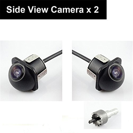 Pair Car Auto 20mm Hole Drilling Side View Camera Side