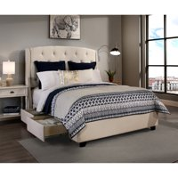 RDH Republic Design House Queen Size Peyton Ivory Headboard, Storage Bed and Bench Collection