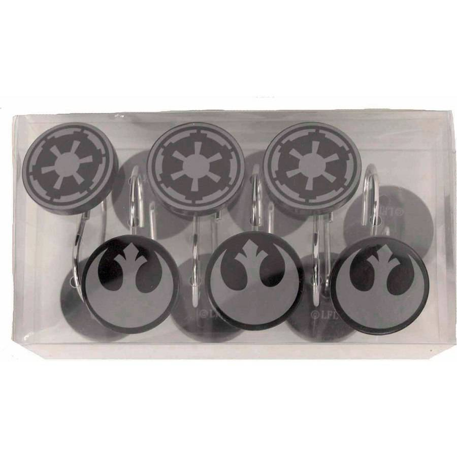 Star Wars Shower Hooks, 12 Piece