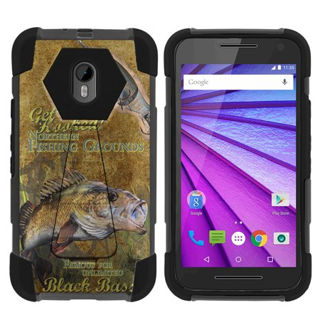 Case for Motorola Moto G 3rd Gen | Moto G3 Hybrid Cover [ Shock Fusion ] High Impact Shock Resistant Shell Case + Kickstand - Big Game (Best Games For Moto G)