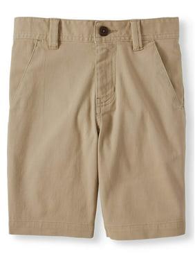 Wonder Nation Boys School Uniform Flat Front Short (Little Boys, Big Boys, & Husky)