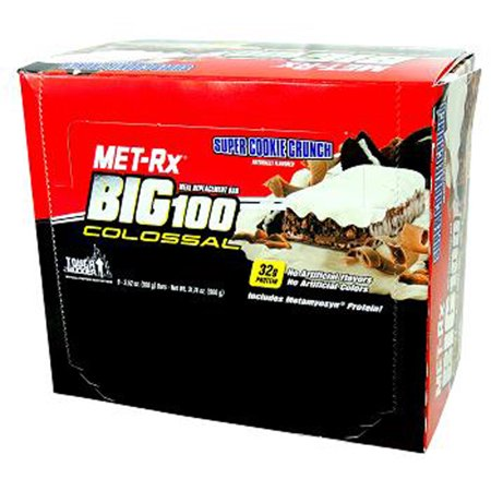 MET-Rx Big 100 Colossal Super Cookie Crunch, 100 gram, 9 count