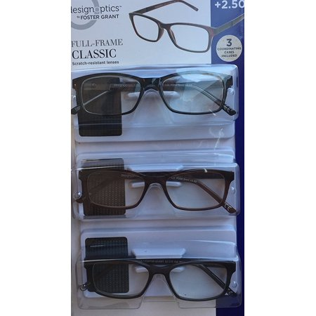Design Optics Full Frame Classic Reading Glasses +2.50 NEW open (Optic Glasses Online)