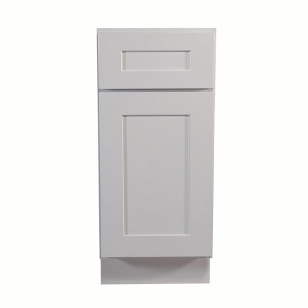 Design House 561324 Brookings Unassembled Shaker Base Kitchen Cabinet 12x34.5x24, White