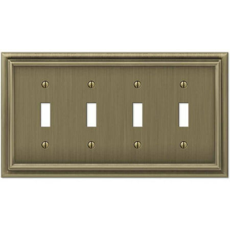 Continental Brushed Brass Cast Quad Toggle -
