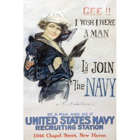 - Navy Wwii Recruiiting Poster For Women Rare Patriotic 24X36