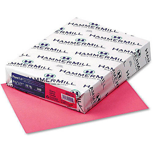 "Hammermill Fore MP 20-lb Recycled Colored Paper, 8-1/2"" x 11"", 500 Sheets"