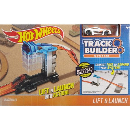 Hot Wheels Track Builder Lift & Launch with One Hot Wheels Vehicle